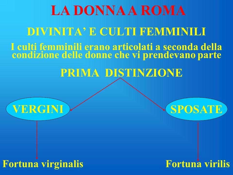DIVINITA' E CULTI FEMMINILI
