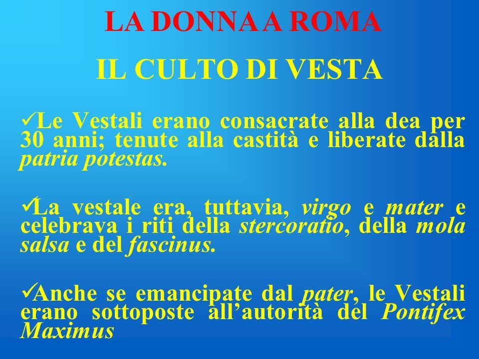LA DONNA A ROMA IL CULTO DI VESTA