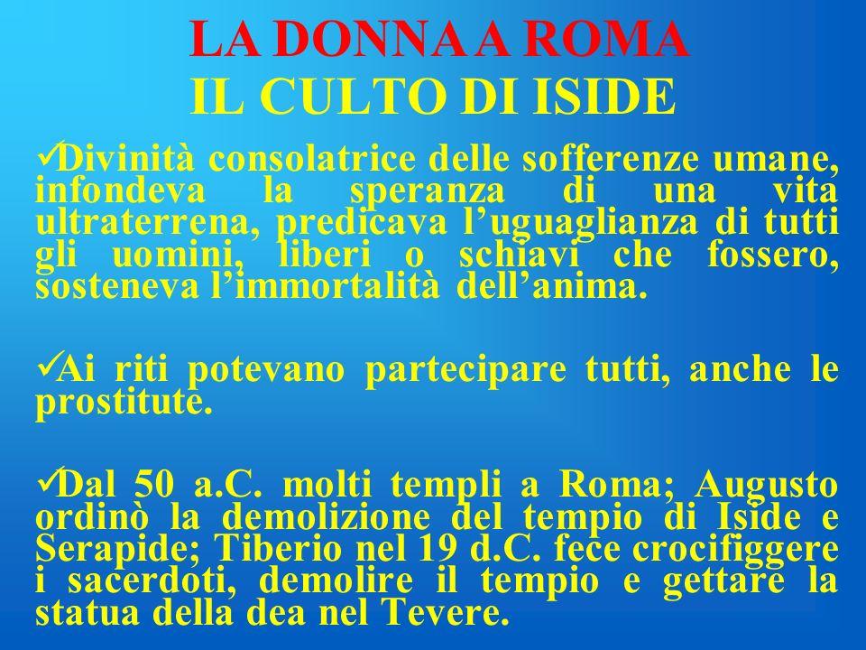 LA DONNA A ROMA IL CULTO DI ISIDE