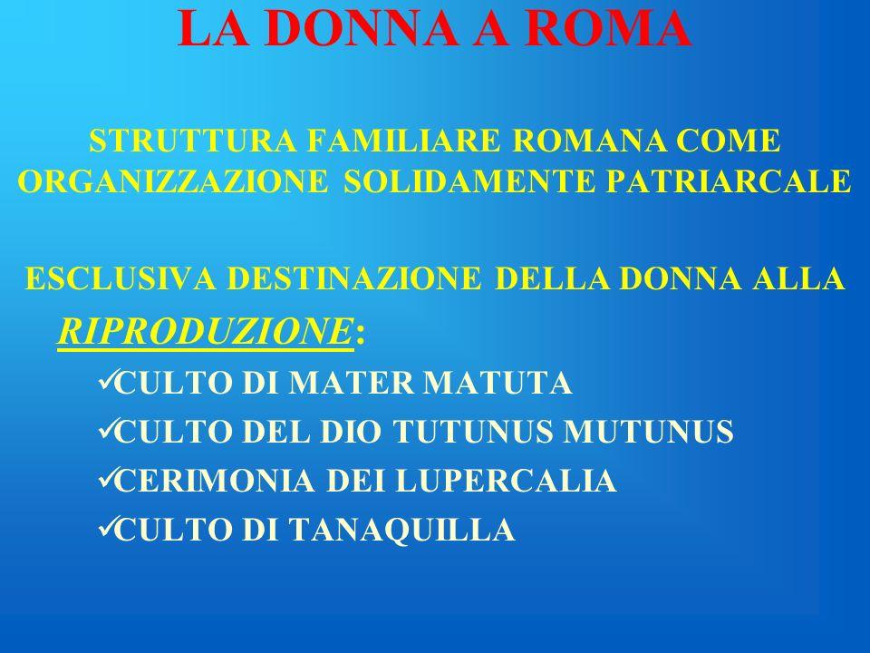 LA DONNA A ROMA RIPRODUZIONE: