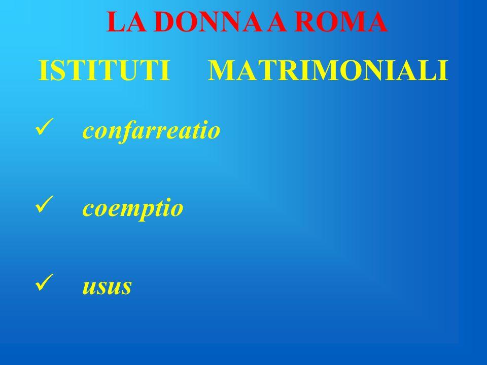 ISTITUTI MATRIMONIALI