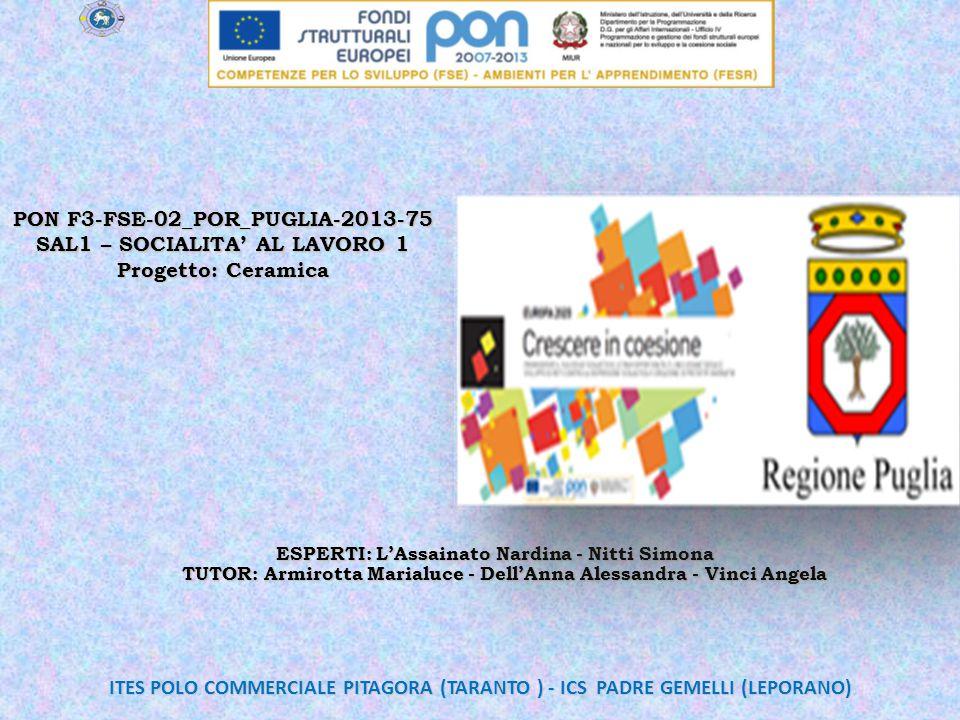 PON F3-FSE-02_POR_PUGLIA-2013-75 SAL1 – SOCIALITA' AL LAVORO 1