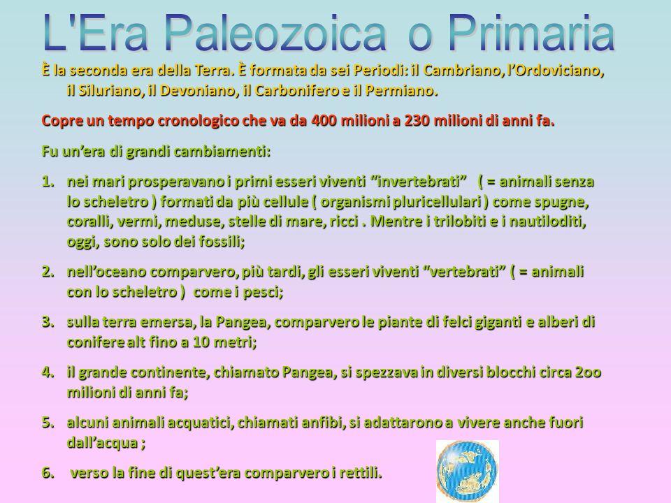 L Era Paleozoica o Primaria