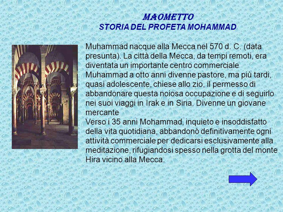 STORIA DEL PROFETA MOHAMMAD