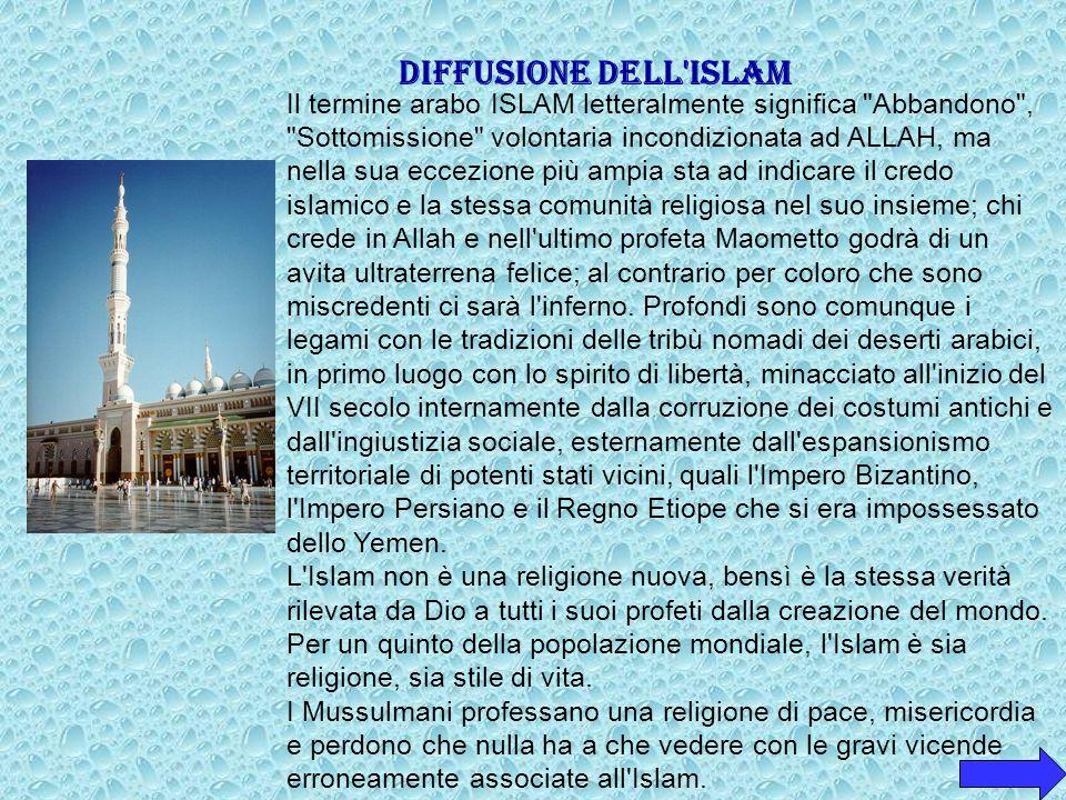 DIFFUSIONE DELL ISLAM