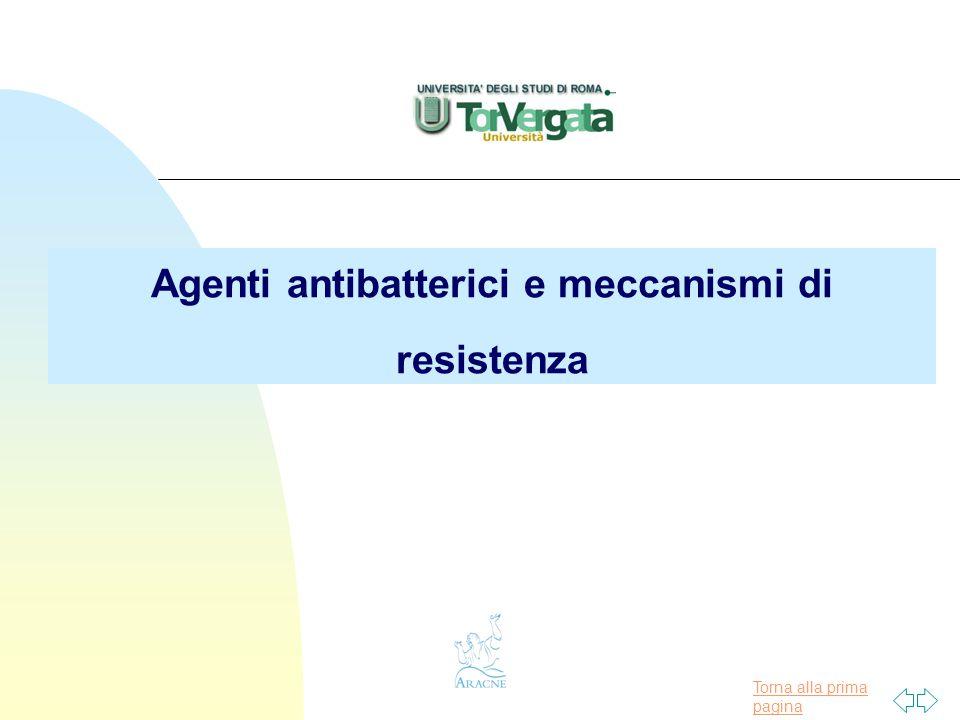 Agenti antibatterici e meccanismi di resistenza