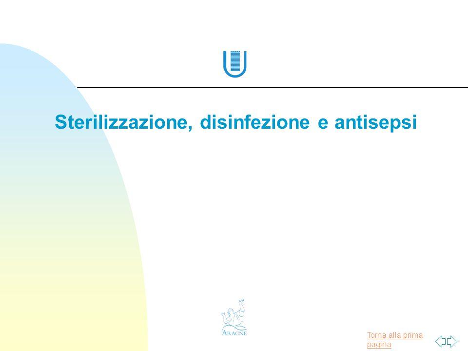 Sterilizzazione, disinfezione e antisepsi