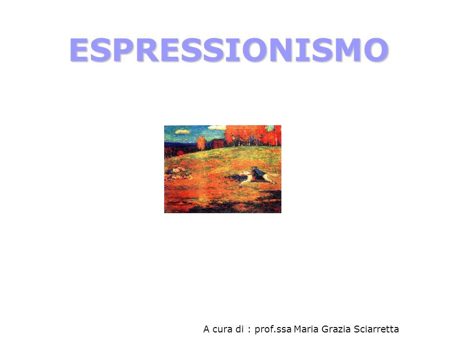 ESPRESSIONISMO A cura di : prof.ssa Maria Grazia Sciarretta