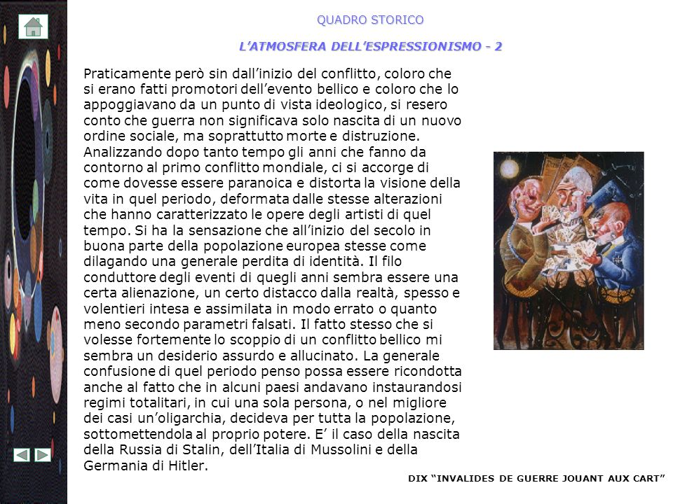 QUADRO STORICO L'ATMOSFERA DELL'ESPRESSIONISMO - 2