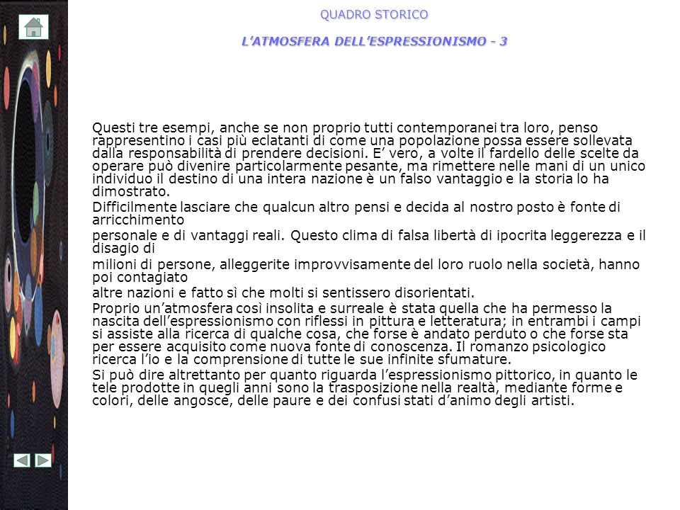 QUADRO STORICO L'ATMOSFERA DELL'ESPRESSIONISMO - 3