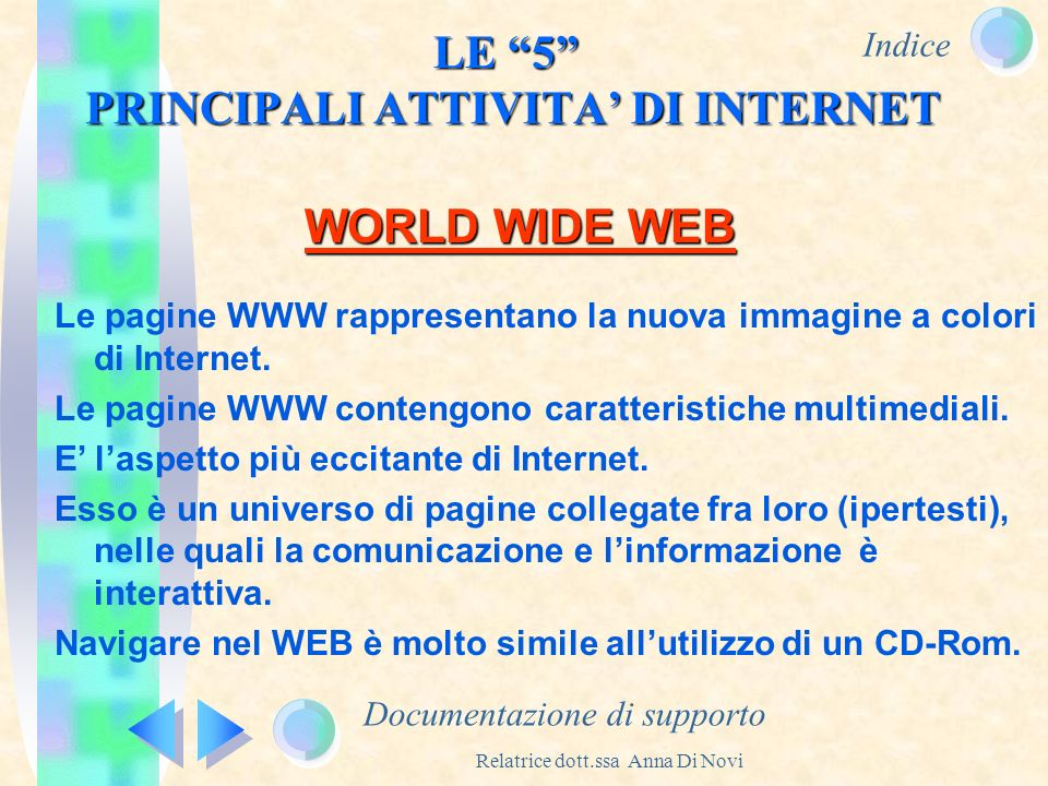 LE 5 PRINCIPALI ATTIVITA' DI INTERNET