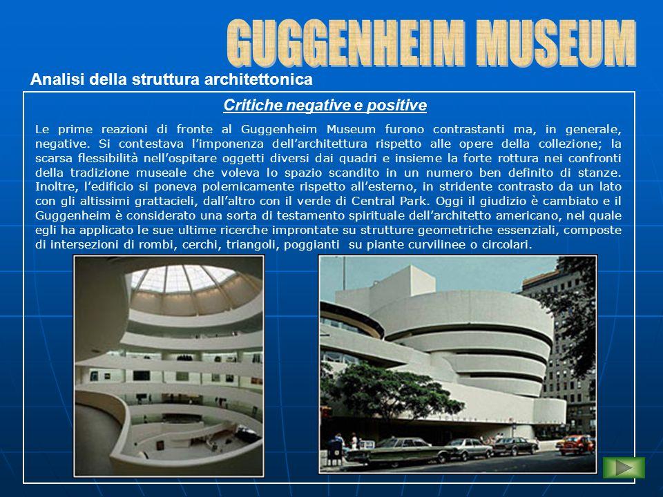GUGGENHEIM MUSEUM Analisi della struttura architettonica