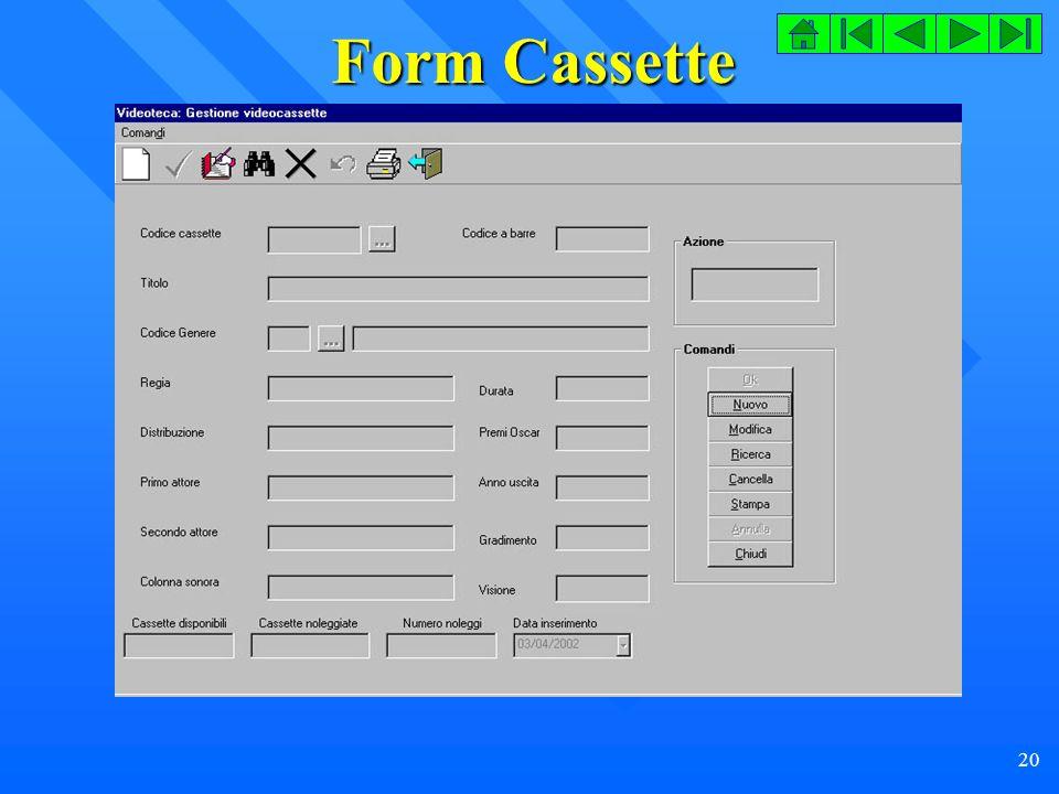 Form Cassette