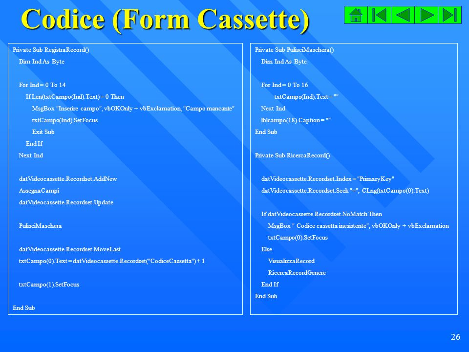 Codice (Form Cassette)