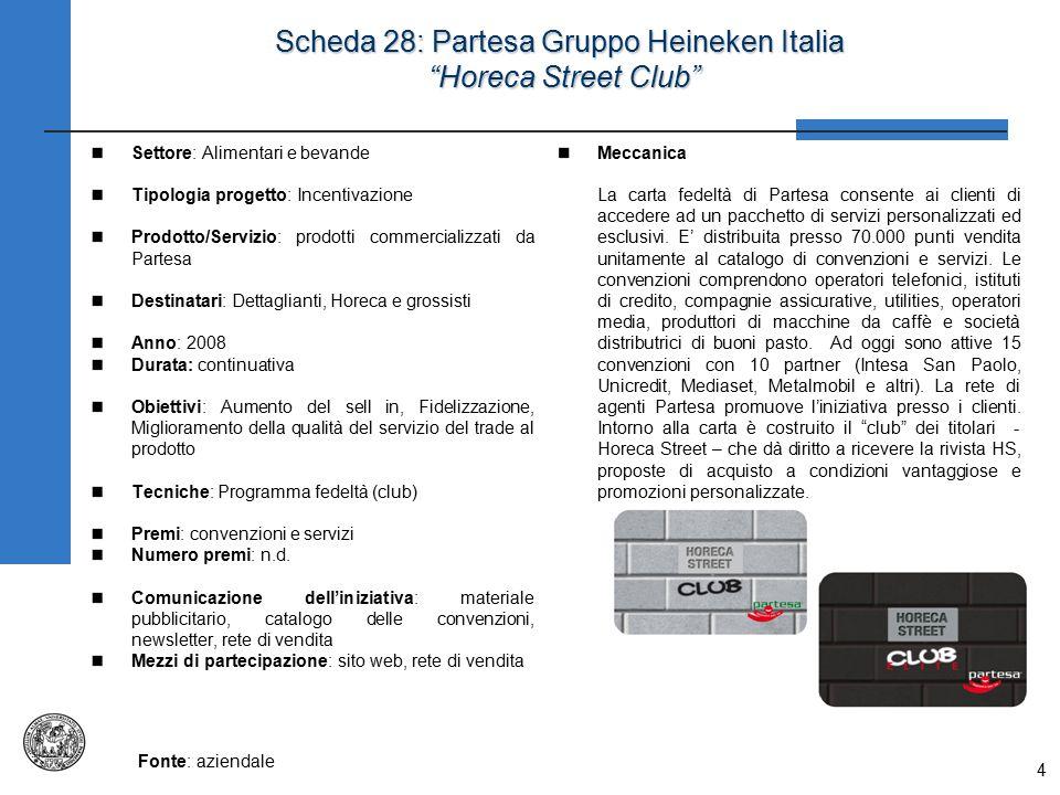 Scheda 28: Partesa Gruppo Heineken Italia Horeca Street Club