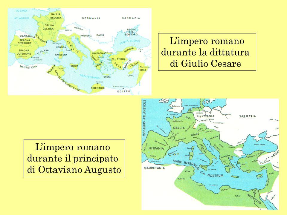 L'impero romanodurante la dittatura.di Giulio Cesare.
