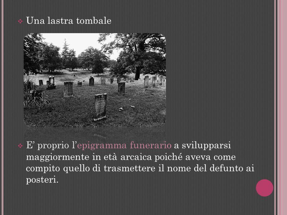 Una lastra tombale