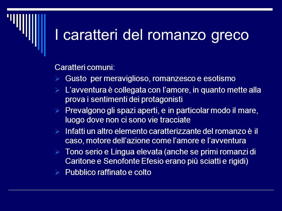 I caratteri del romanzo greco