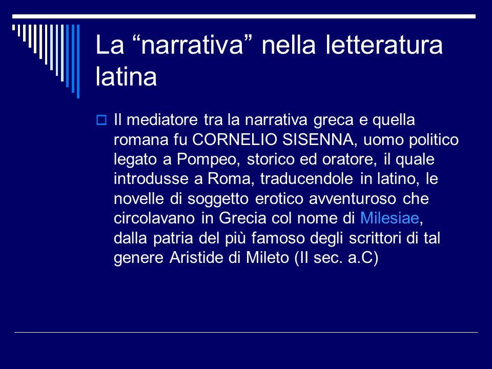 La narrativa nella letteratura latina