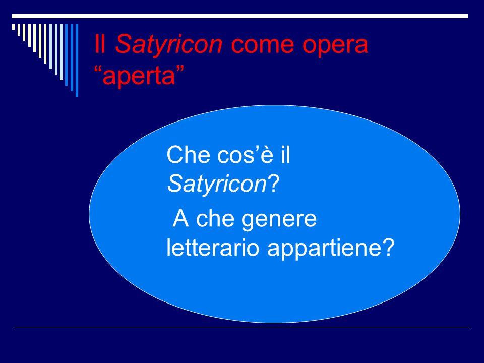 Il Satyricon come opera aperta