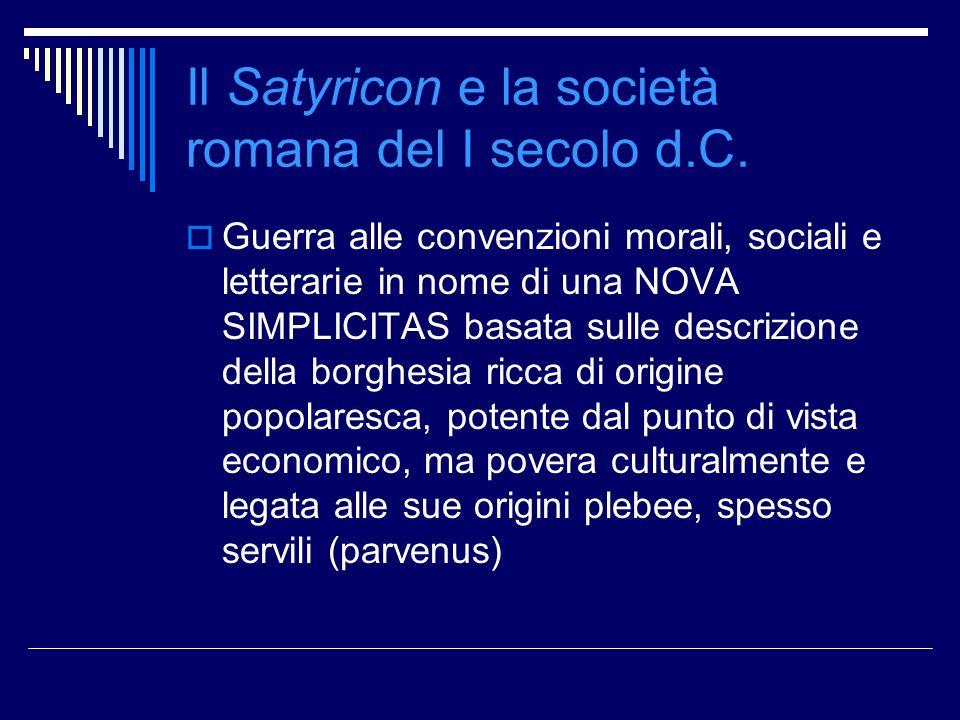 Il Satyricon e la società romana del I secolo d.C.