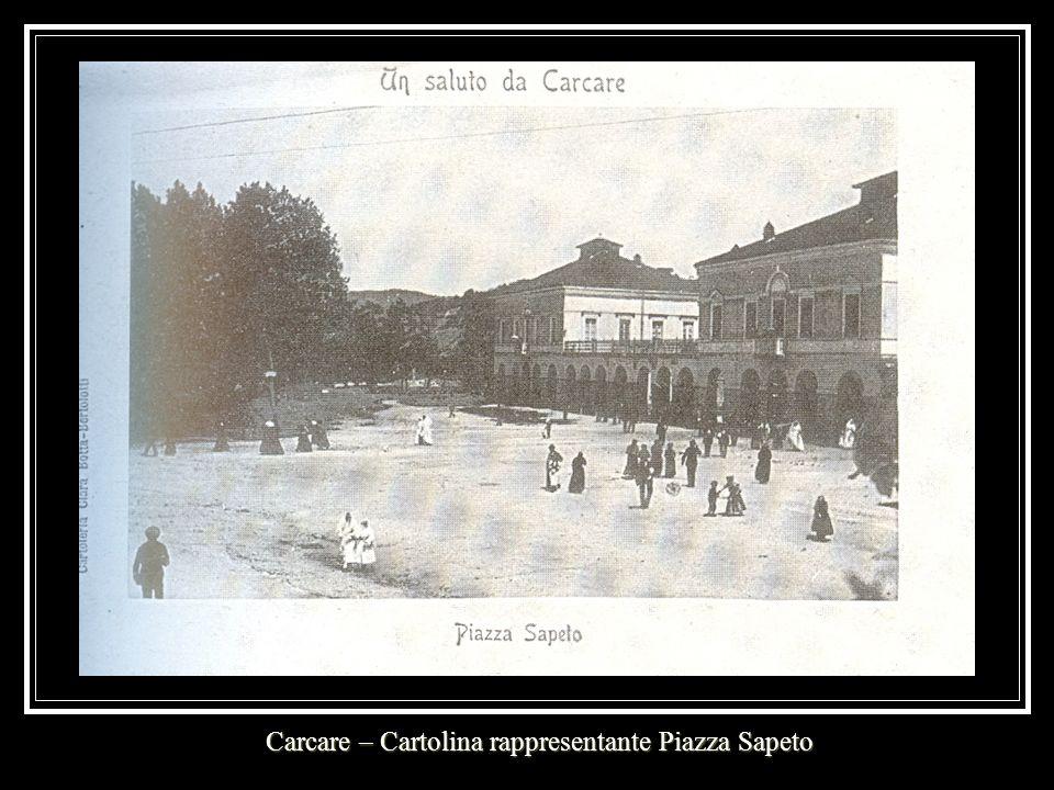 Carcare – Cartolina rappresentante Piazza Sapeto