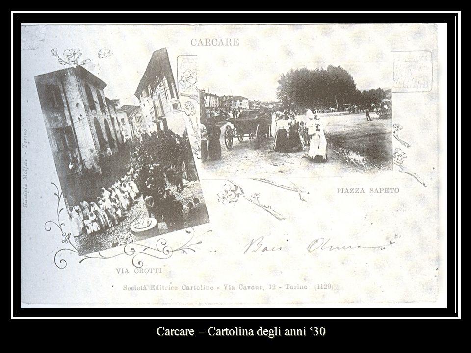 Carcare – Cartolina degli anni '30
