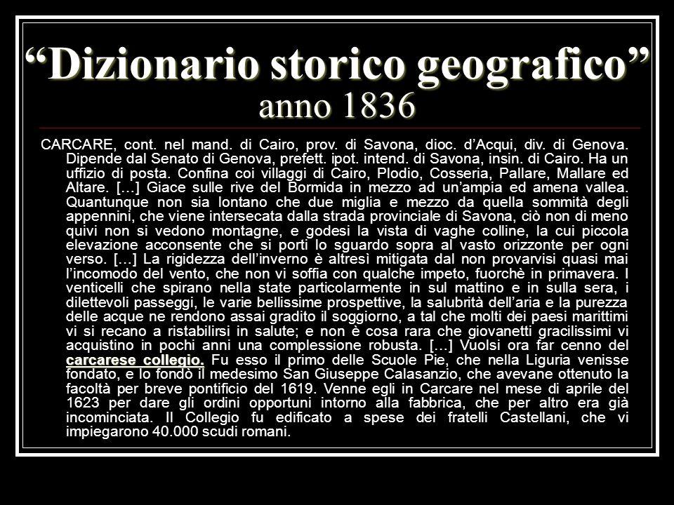 Dizionario storico geografico anno 1836