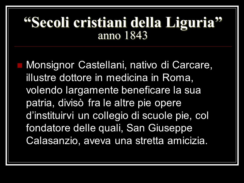 Secoli cristiani della Liguria anno 1843