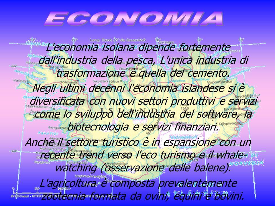 ECONOMIAL economia isolana dipende fortemente dall industria della pesca, L unica industria di trasformazione è quella del cemento.