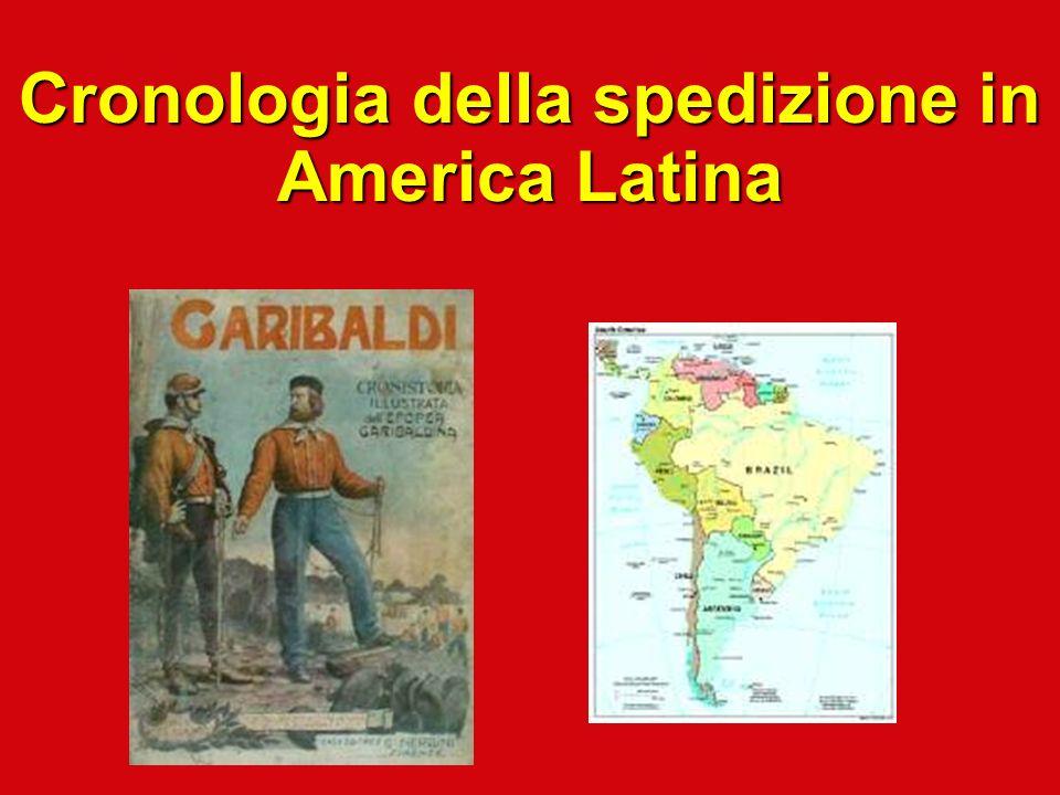 Cronologia della spedizione in America Latina