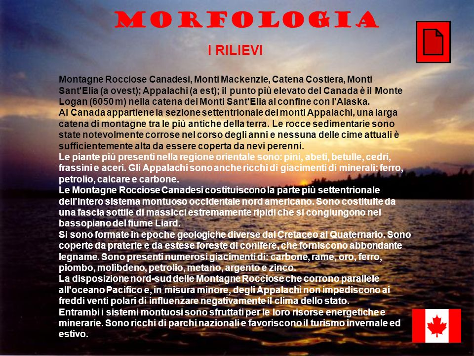 MorfologiaI RILIEVI.