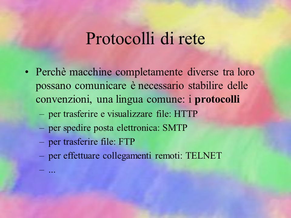 Protocolli di rete