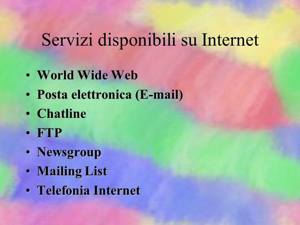 Servizi disponibili su Internet