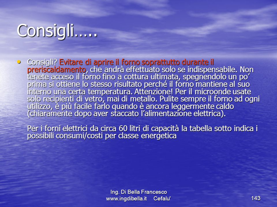 Ing. Di Bella Francesco www.ingdibella.it Cefalu