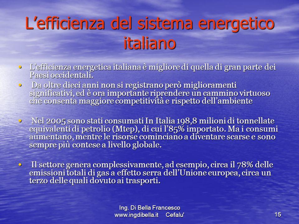 L'efficienza del sistema energetico italiano