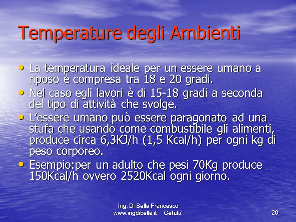 Temperature degli Ambienti