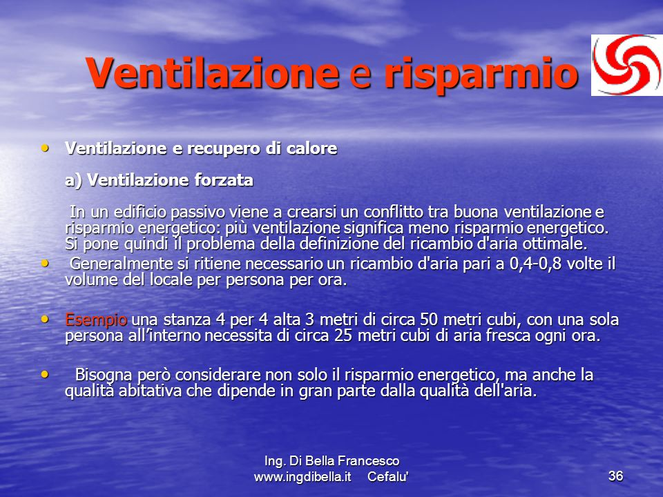 Ventilazione e risparmio