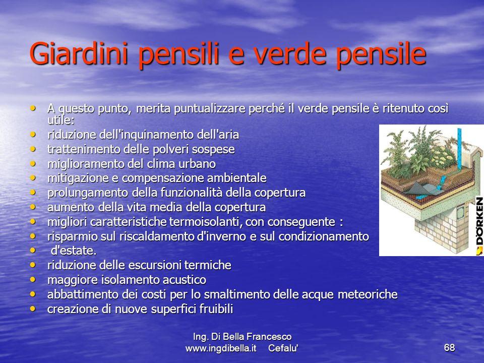 Giardini pensili e verde pensile