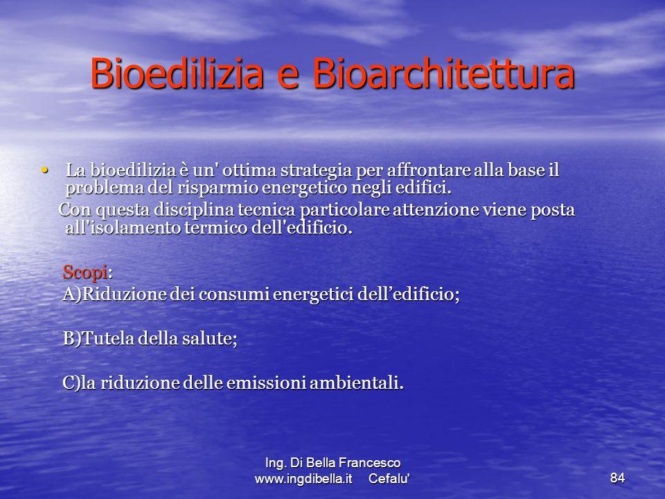 Bioedilizia e Bioarchitettura