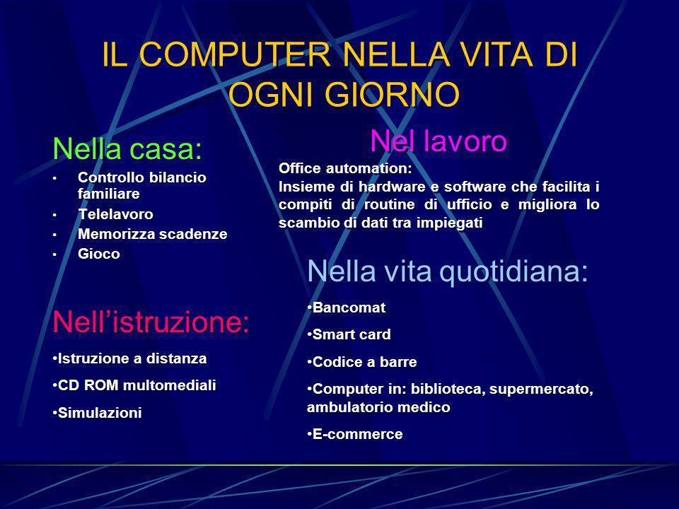 IL COMPUTER NELLA VITA DI OGNI GIORNO