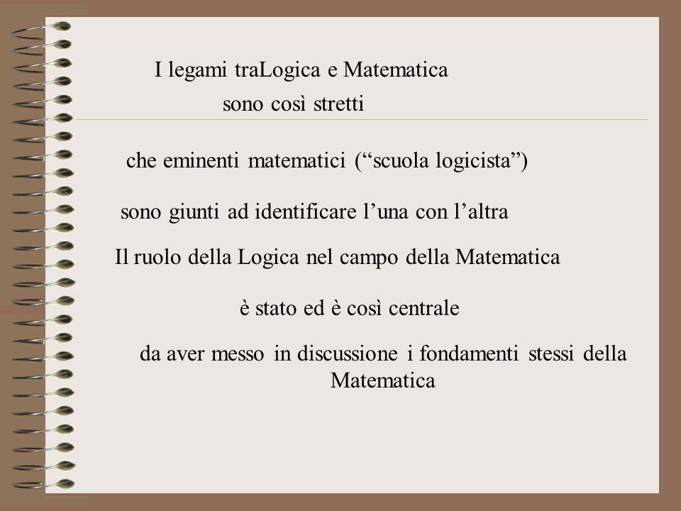 I legami traLogica e Matematica