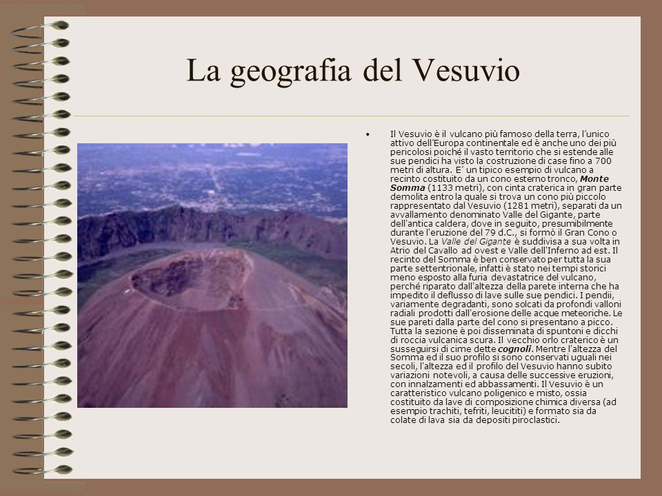 La geografia del Vesuvio
