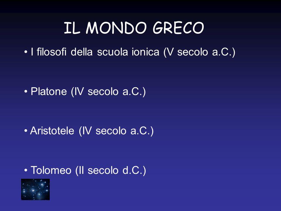 IL MONDO GRECO I filosofi della scuola ionica (V secolo a.C.)