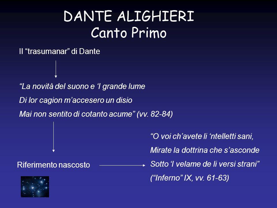 DANTE ALIGHIERI Canto Primo