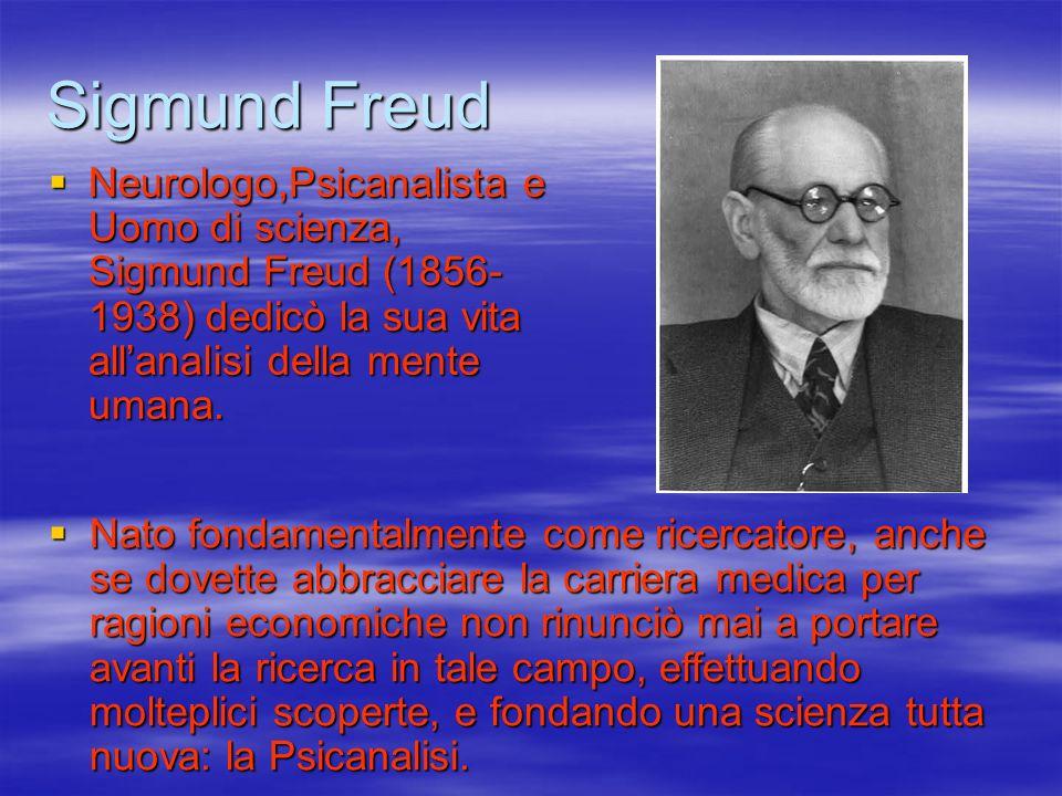 Sigmund Freud Neurologo,Psicanalista e Uomo di scienza, Sigmund Freud (1856-1938) dedicò la sua vita all'analisi della mente umana.