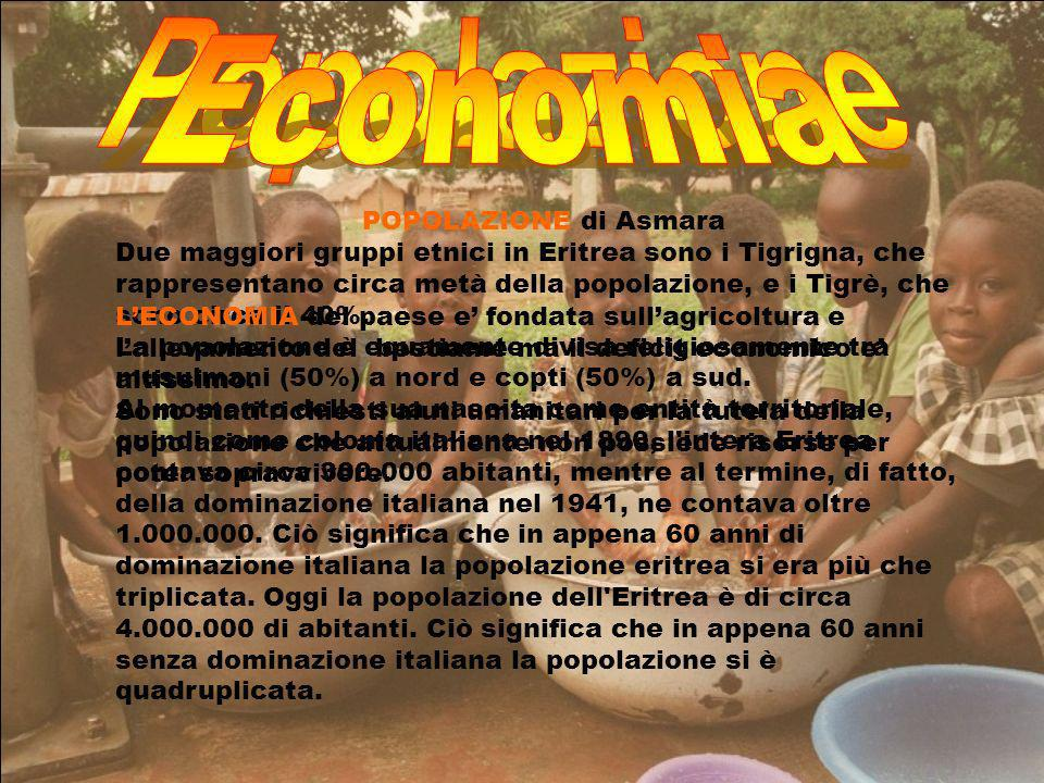 Popolazione Economia POPOLAZIONE di Asmara