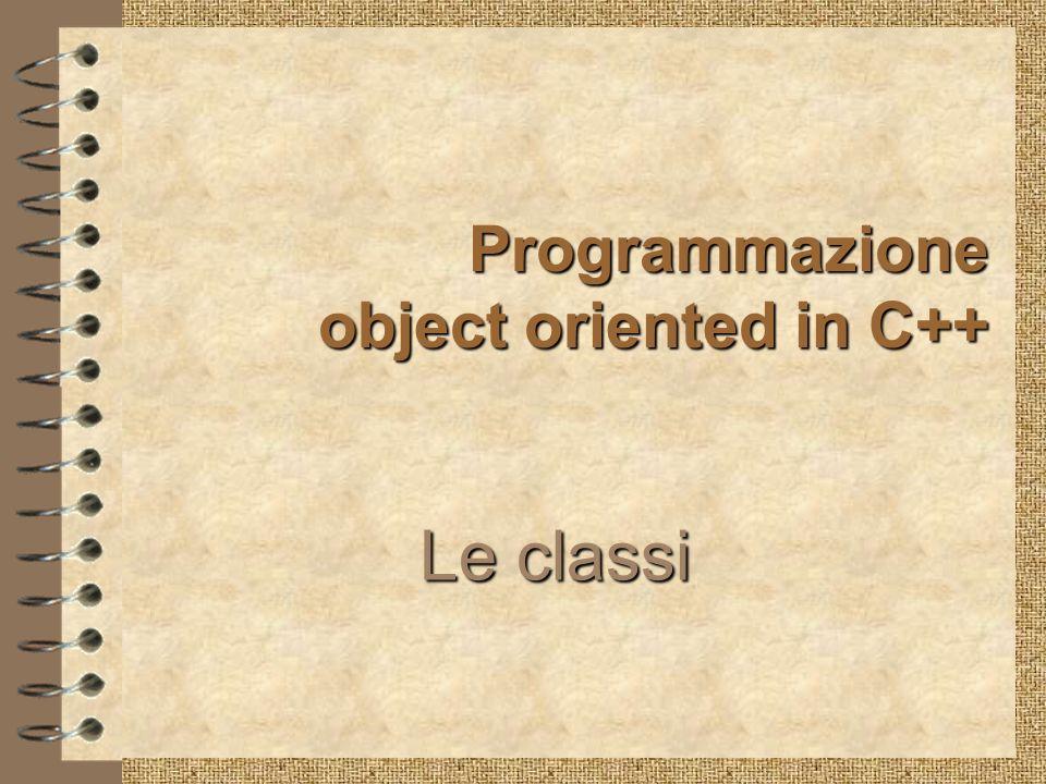 Programmazione object oriented in C++