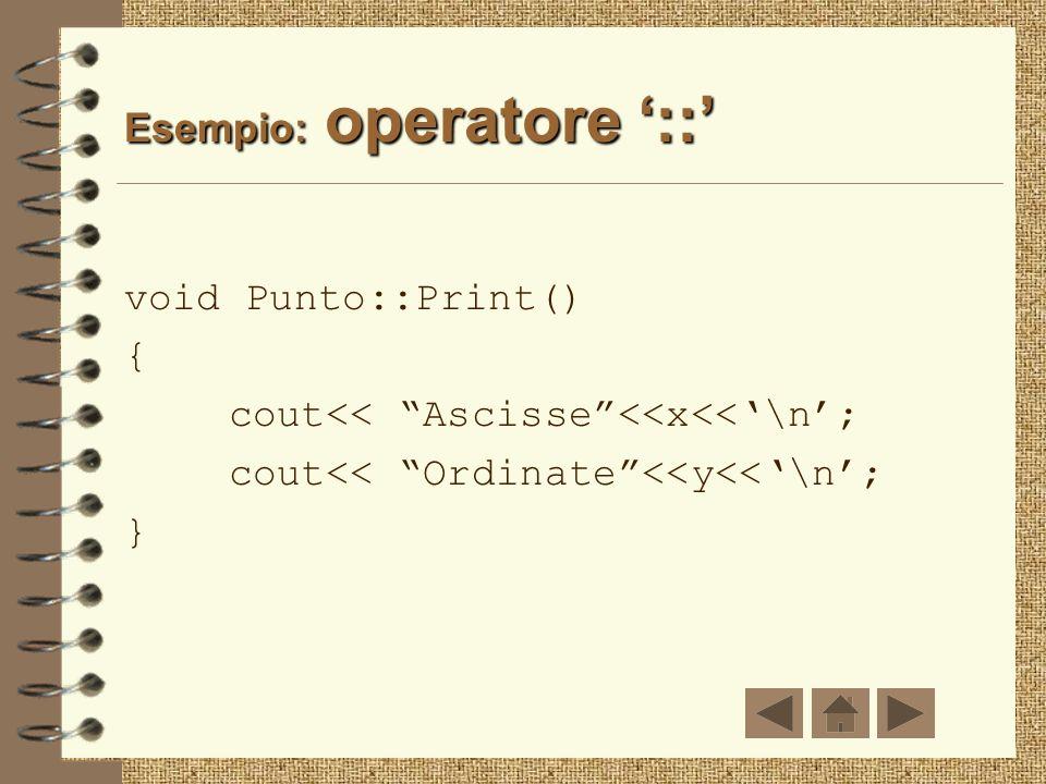 Esempio: operatore '::'