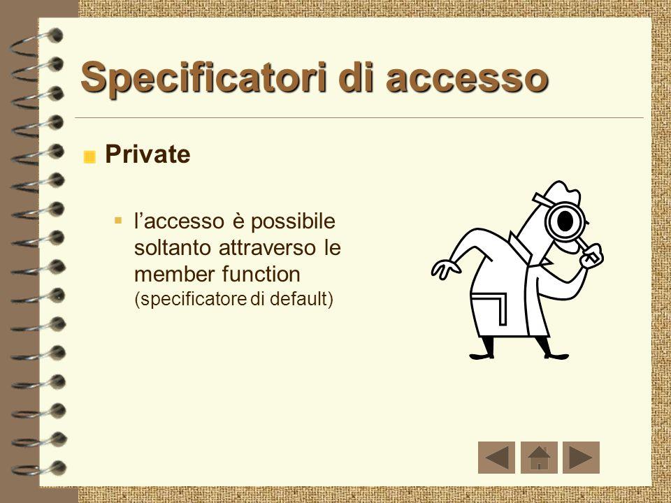 Specificatori di accesso